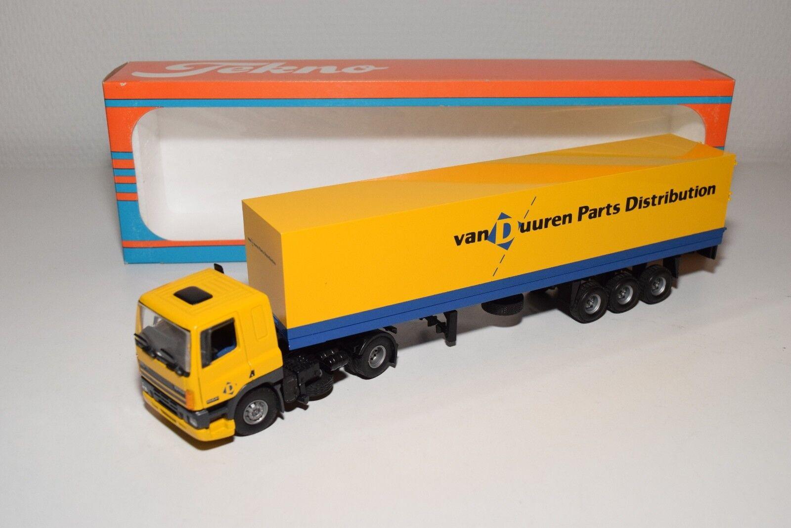 S TEKNO DAF 85 VAN DUUREN PARTS DISTRIBUTION TRUCK WITH TRAILER MINT BOXED