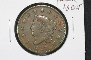 1827 Coronet Head Large Cent,  Very Fine