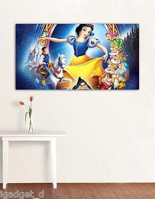 4 Sizes- SNOW WHITE Disney HD CANVAS PRINT Home Wall Decor Art Enchanted Giclee