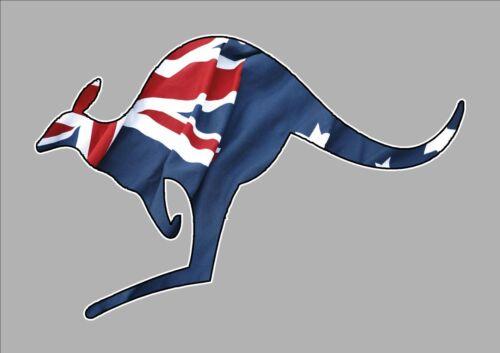 KANGAROO AUSSIE FLAG AUSTRALIAN FLAG CAR WINDOW STICKER DECAL