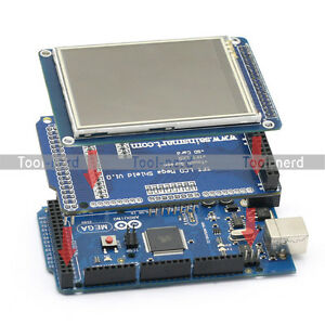 SainSmart-Mega2560-3-2-LCD-TFT-Touch-Screen-SD-Reader-4-Arduino-UNO-R3-Robot