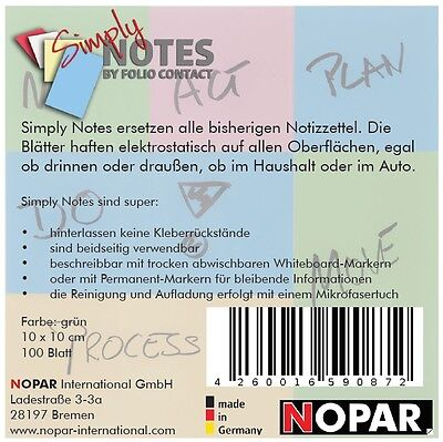 Haftzettel SIMPLY NOTES by Folio Contact blau 10 x 10 cm 100 Blatt
