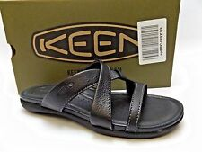 NEW Women's KEEN 'Rose City Slide' BLACK LEATHER SLIDE SANDAL SZ 5.0 M   D3513