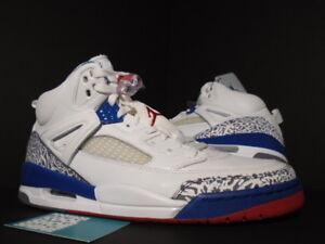 6e6faf6a72ef 2007 Nike Air Jordan SPIZIKE WHITE TRUE BLUE FIRE RED CEMENT GREY ...