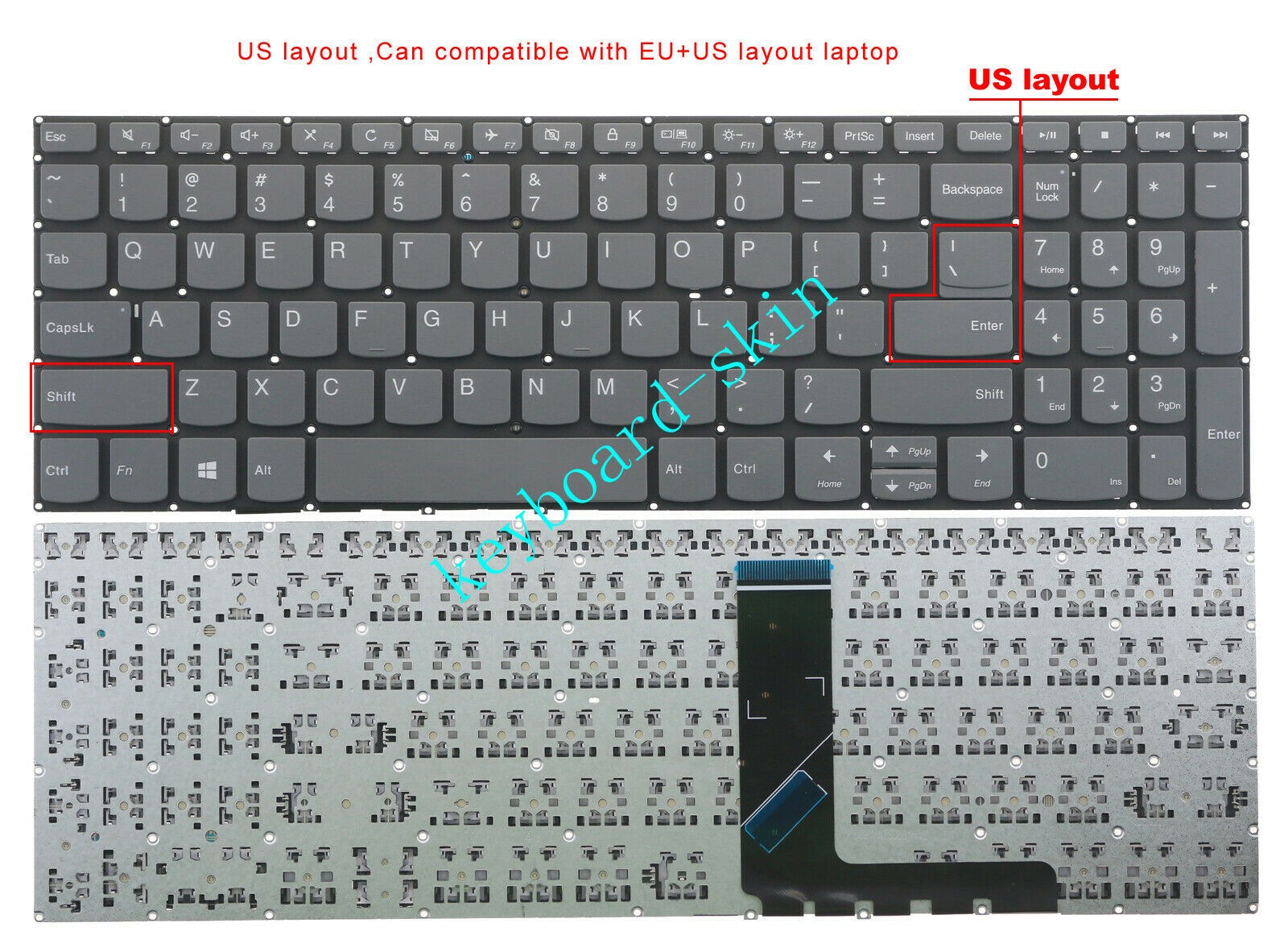 New for Lenovo S340-15IWL S340-15API S340-15IML US Keyboard without Backlit