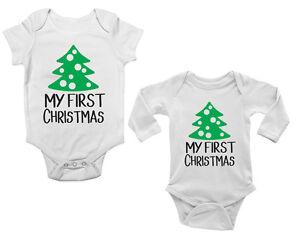Personalised 1st Christmas Baby Bodysuit For Girls Newborn Baby Christmas Gift