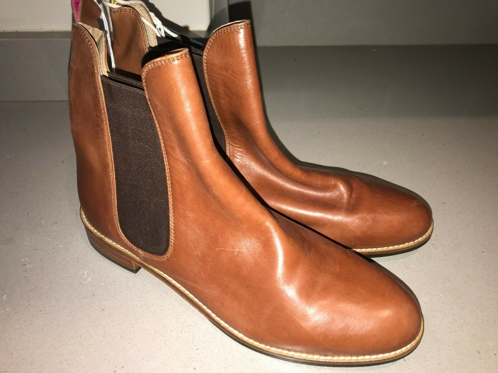 JOULES Chelsea Westbourne Tan Leather Stiefel 4 5 6 7 8 RP FreeUKP&P