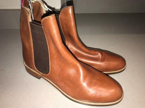 JOULES Chelsea Westbourne Tan Leather Boots 4 5 6 7 8 RP£140 FreeUKP/&P