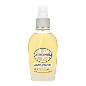 L'Occitane Almond Supple Skin Oil 3.3oz, 100ml Personal Care Massage Oil