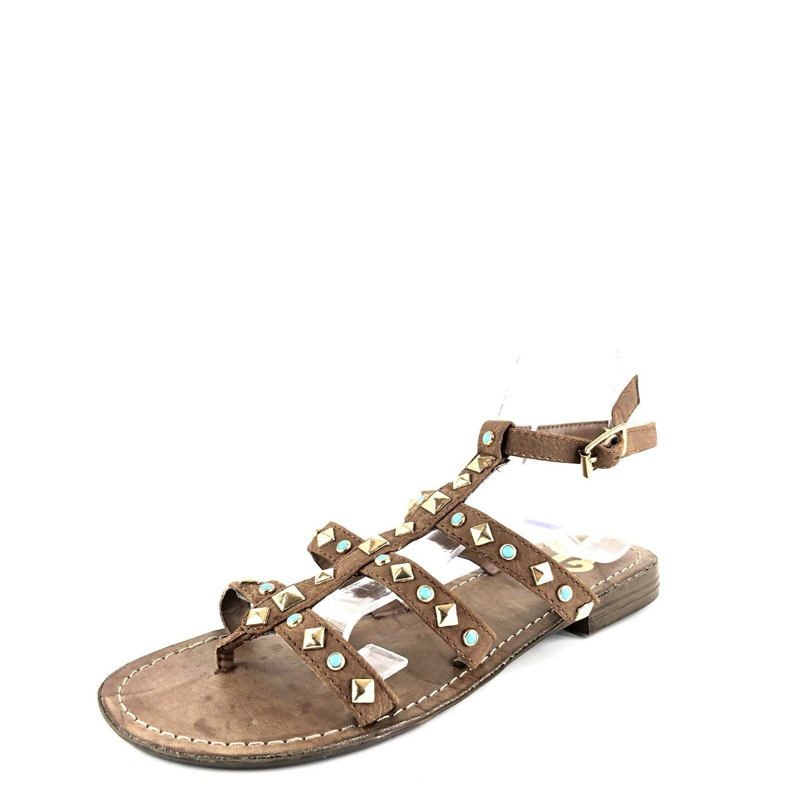 New R2 By Report Jordana  Brown Ankle Strap Gladiator Sandals Women's Size 6 M