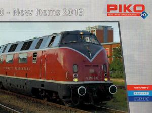 PIKO HO SCALE NEW ITEMS CATALOG 2013   NOS   TMS-1051