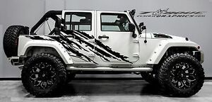 Custom Jeep Rubicon >> Details About Stealth 4 Door Vinyl Decal Set For Jeep Wrangler Vehicles Custom Graphics
