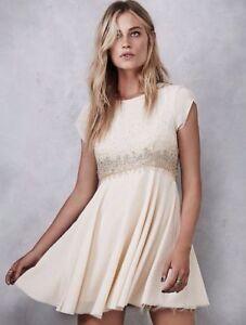 be6490a4 NWT FREE PEOPLE WOMEN Sz4 ROCK CANDY EMBELLISHED BABYDOLL DRESS ...