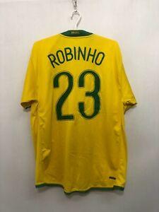 BRASILE NIKE ROBINHO #23 CALCIO SOCCER TRIKOT JERSEY MAGLIETTA HOME 2008/2009 XL