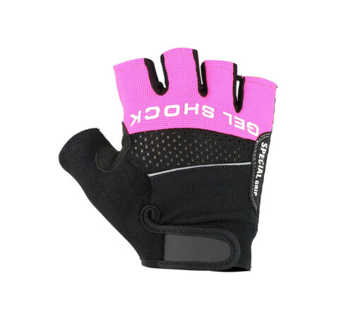 CYCLING GLOVES HALF FINGER FOUR WAY STRETCH BACK FOR PERFECT FIT CYCLE GLOVE