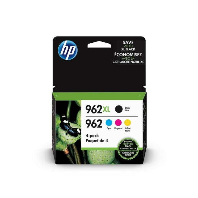 Genuine HP - 962XL/962 High-Yield Black & Standard Color Cartridges Exp 1/2021