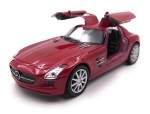 Modello-Auto-Mercedes-Benz-SLS-AMG-ROSSO-AUTO-SCALA-1-3-4-39-con-licenza
