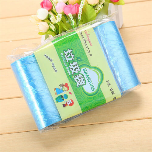 100Pcs Recycling Garbage Bag Plastic Trash Bag Bin Liners Disposable Home Supply