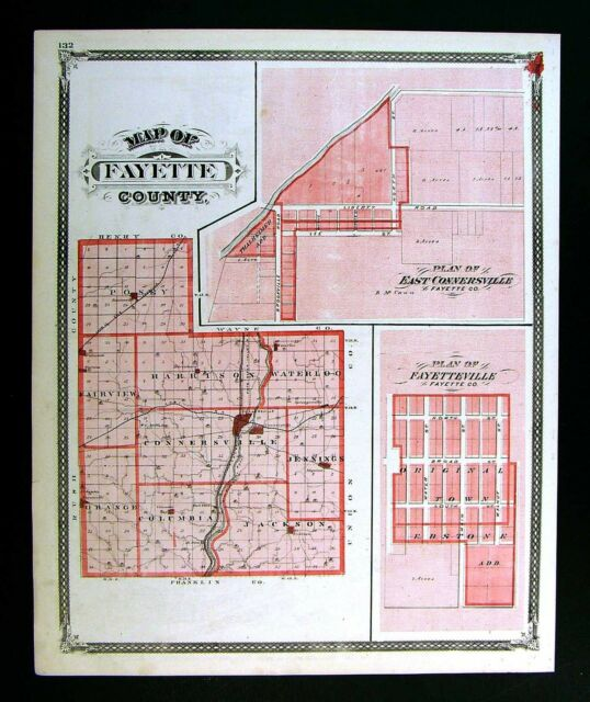 city map of connersville indiana