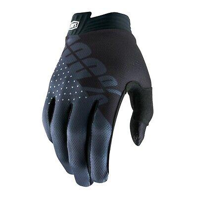 2019 100% Itrack Motocross Mx Bike Gloves - Black / Charcoal