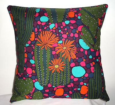 BEAUTIFUL NEW MEXICAN GREEN CACTUS  CUSHION COVER 16''x16''