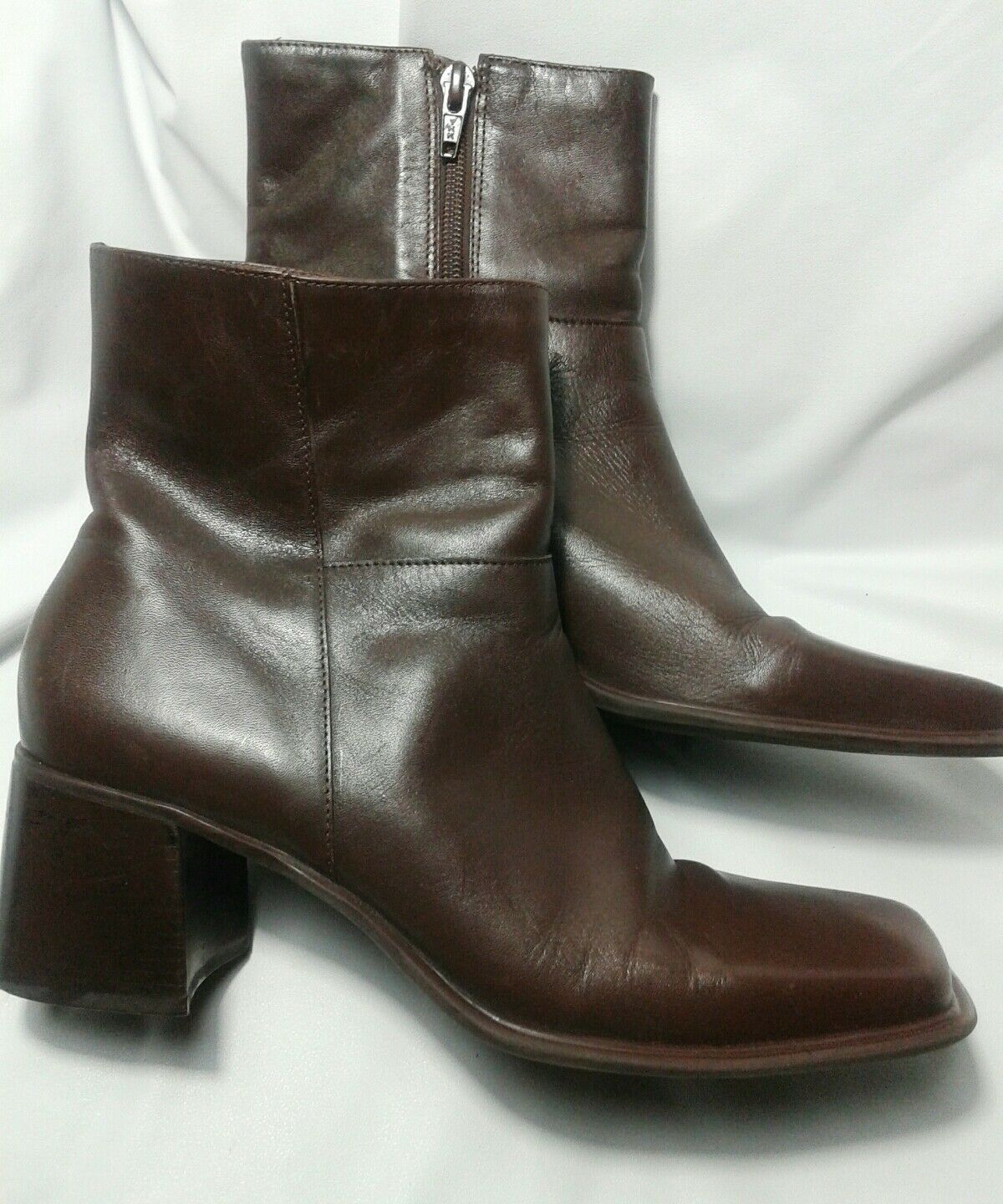 Womens Leather Boots Size 9M BP Leather Ankle Boots Side Zip~Smooth-Lea