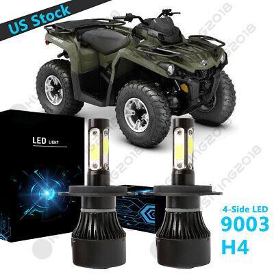 FOR  CAN-AM OUTLANDER 400 500 650 800 HEADLIGHT LED LIGHT BULBS 100W 11000LM