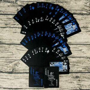 Waterproof-Black-Poker-Playing-Cards-Plastic-PVC-Poker-Creative-Gift-Durable