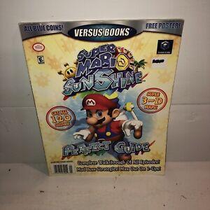 Super Mario Sunshine Nintendo Gamecube Strategy Guide Versus Books No Poster