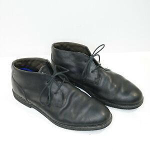 timberland black leather chukka boots