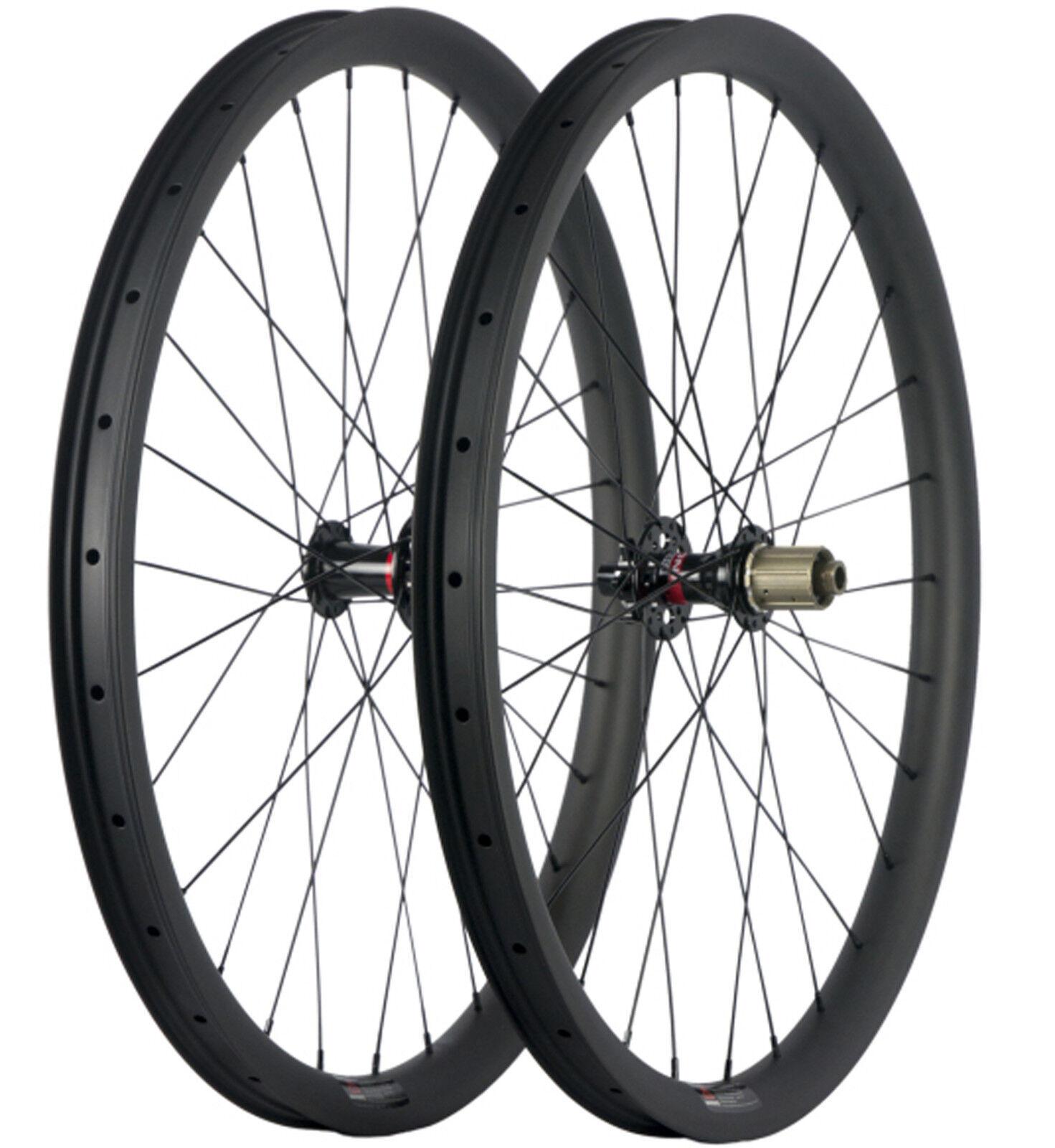27.5ER Mountain Bike Wheelset Rim 40mm Width Tubeless MTB Full Carbon Wheelset