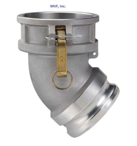 """Aluminum /<DA300AL45 45° Female Coupler x Male Adapter 3/"""" Type DA Camlock"""