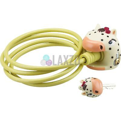 Bicycle Cable Lock Kids Crazy Stuff with Key Chipmunk 5 x 1200mm