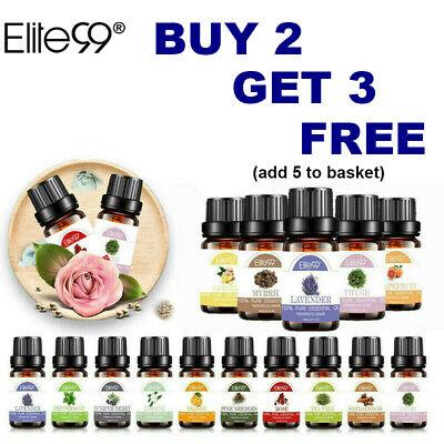 Elite99 Essential Oil 100% Pure Nature Aroma 10ml For Essential Oils Diffuser UK   eBay
