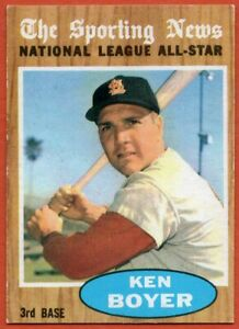 1962 Topps #392 Ken Boyer VG-VGEX+ Wrinkle St. Louis Cardinals FREE SHIPPING