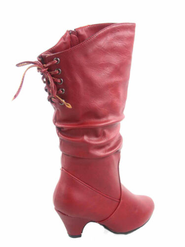 Cute Girl/'s Kid/'s Zipper Lace Low Flat Heel Round Toe Boot Shoes Size 9-4 NEW