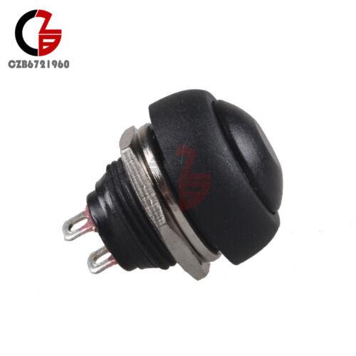 5Pcs Noir étanche 12 mm momentané ON//OFF Bouton poussoir Mini Round Switch