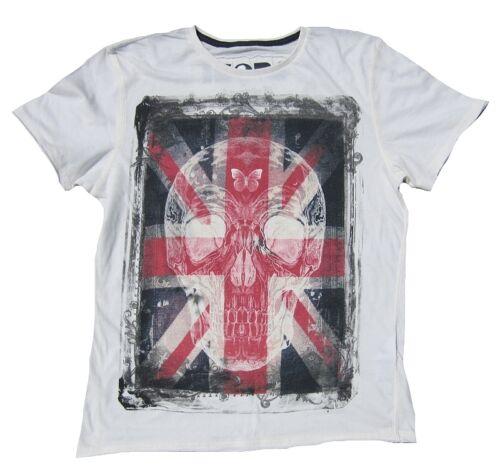 Ikons Amplified saint /& sinnners skull uk union jack rock rock tatouage t-shirt M