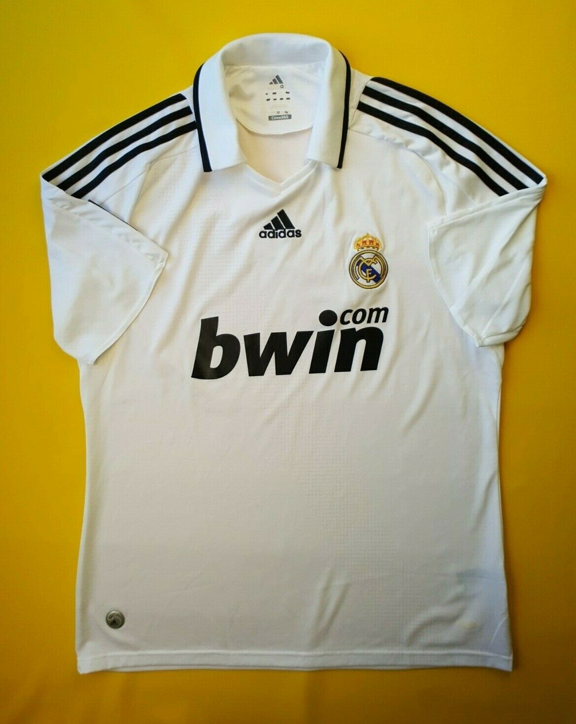 16d10c73c 5 5 Real Madrid jersey large 2008 2009 home shirt soccer football Adidas  ig93
