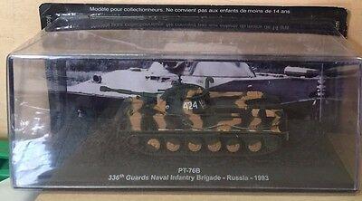 COMBAT TANK CARRO ARMATO PT-76B RUSSIA 1993 scala 1\72