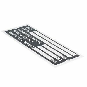 Trailer Blank Vin Weight Chassis Plate With Number Letter Stamp Punch Set 5056316316569 Ebay