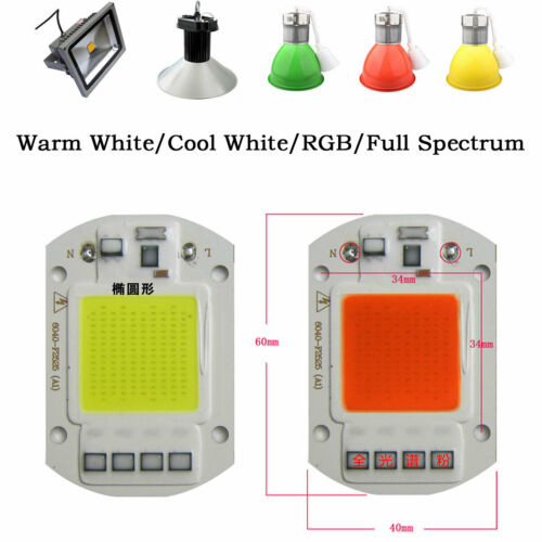 White COB SMD Chip LED Grow Light Plant Growing Lamp 20W 30W 50W Full Spectrum