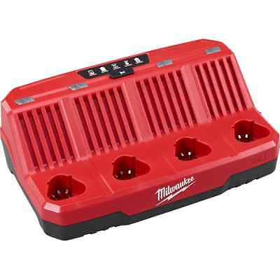 NEW MILWAUKEE 48-59-1204 M12 4 BAY SEQUENTIAL CORDLESS  BAY BATTERY CHARGER