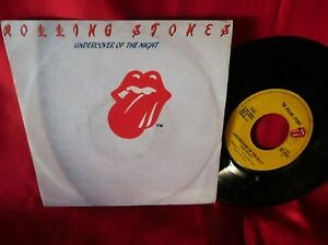 THE-ROLLING-STONES-Undercover-of-the-night-45rpm-7-039-PS-1983-ITALY-EX