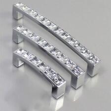 Modern Diamond Crystal Knob Cabinet Kitchen Wardrobe Cupboard Pull Handle RD HOT