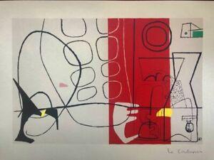 Le Corbusier - Corteo (Cortège), litografia 1970, 40X29 Mourlot Frères Paris