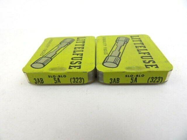 Lot Of 10 Littelfuse 3ab 5a 323 125v 5 Amp Slow Blow Fuses Vintage For Sale Online