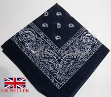 Large NAVY BLUE Printed BANDANA / SCARF
