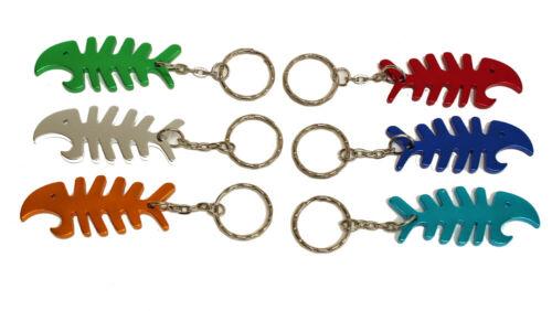 Schlüsselanhänger Flaschenöffner Schlüssel Anhänger Aluminum Neu Farbwahl Fisch
