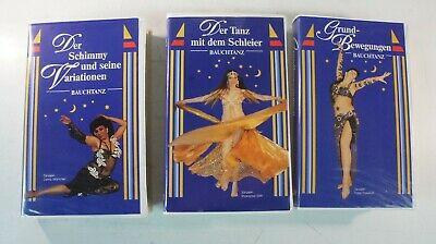 3 X Danza Del Ventre Belly Dance Corso Base + Velo + Schimmy Vhs Video M-1680- I Consumatori Prima